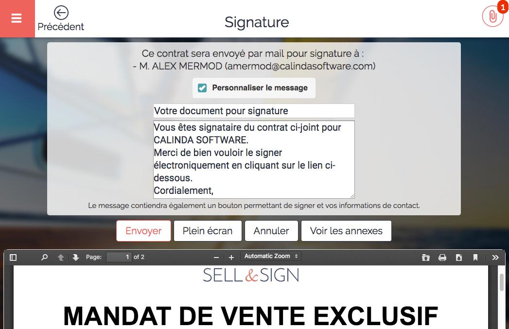6 envoi pour signature
