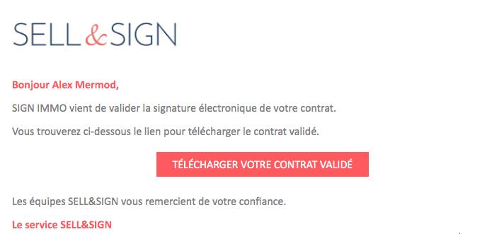 mail 3 signature validé