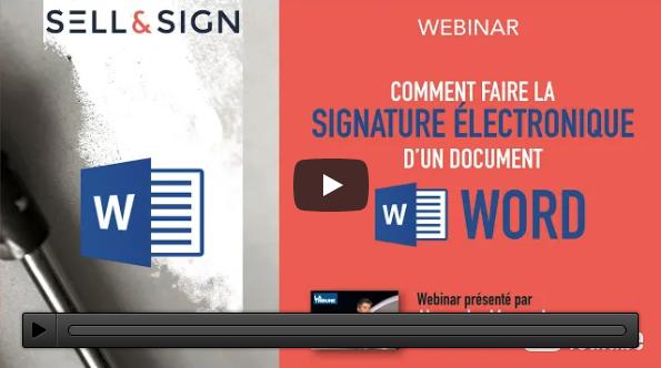 signature électronique doc word