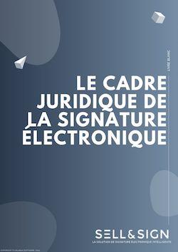 couverture livre blanc cadre légal de la signature électronique