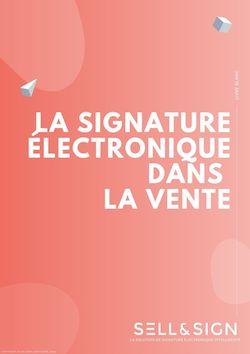 couverture libre blanc de la signature électroniquedans la vente