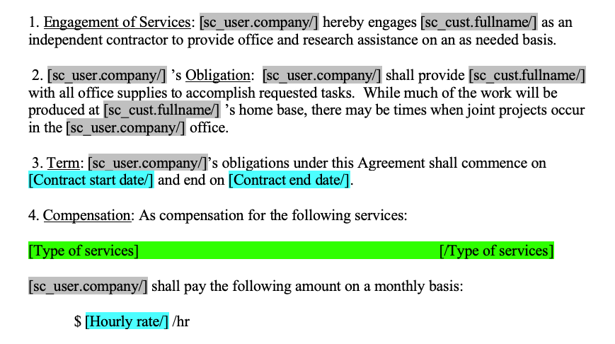 contractor agreement template Compatibility Mode