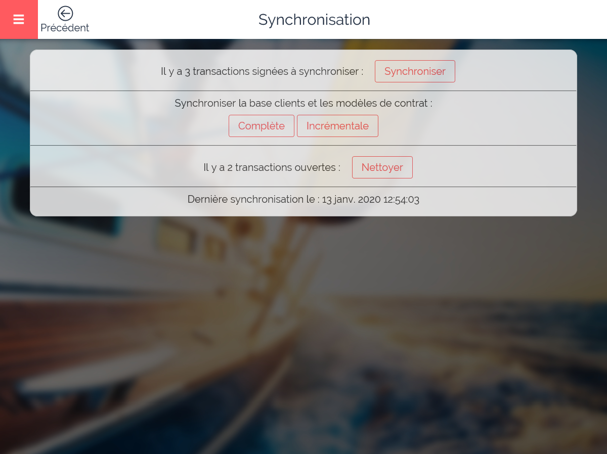 synchronisation contrats sell&sign