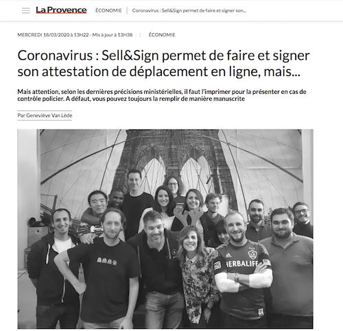 cover La provence covid-19