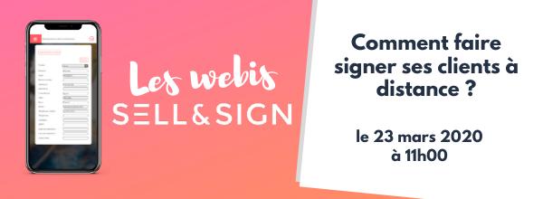 webinar signature à distance sell&sign