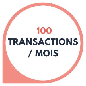 100 transactions par mois