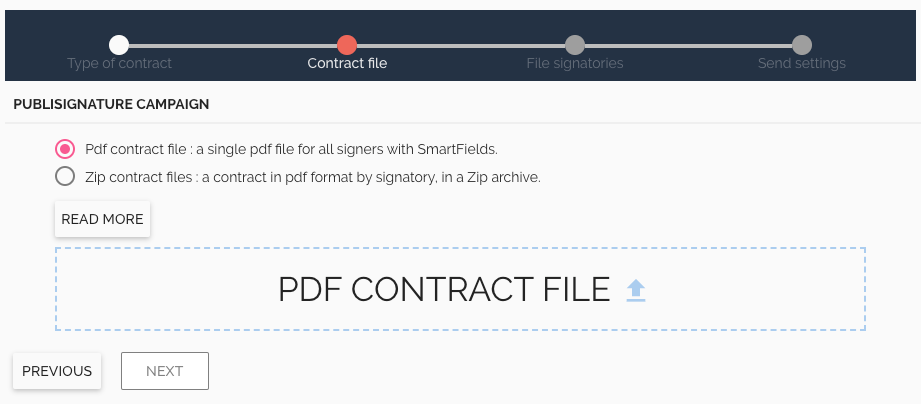 Electronic Signature multiple PDF Campaign