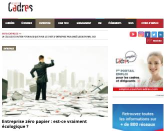 cover courrier cadres zero papier